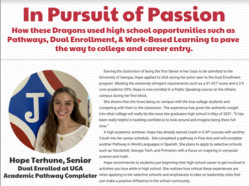 In Pursuit of Passion: Preparing for College and Career Entry