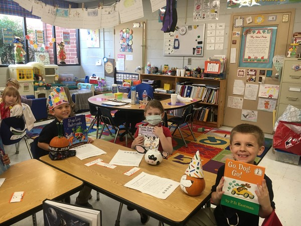 Ms. McDonald's kindergarten students decorated pumpkins as characters from their favorite books. (10/23/20)