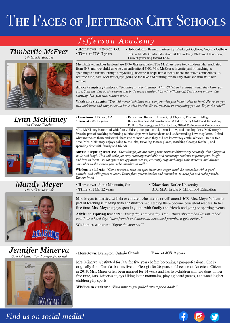The Faces of Jefferson City Schools: JA Week 9