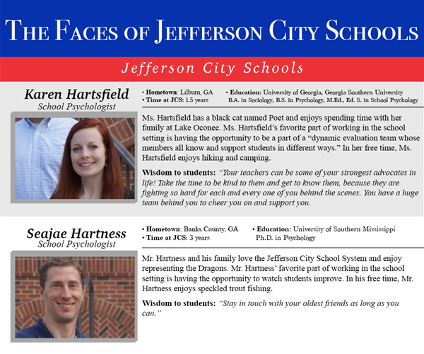 Faces of Jefferson City Schools: School Psychology