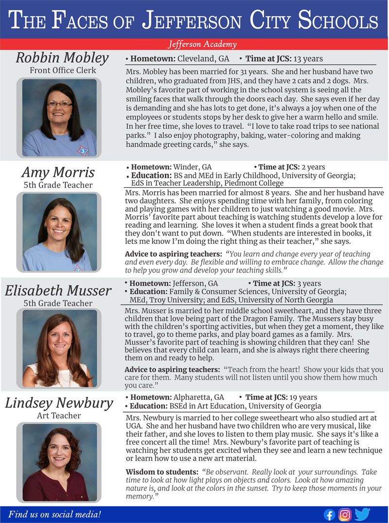 The Faces of Jefferson City Schools:  JA Week 10