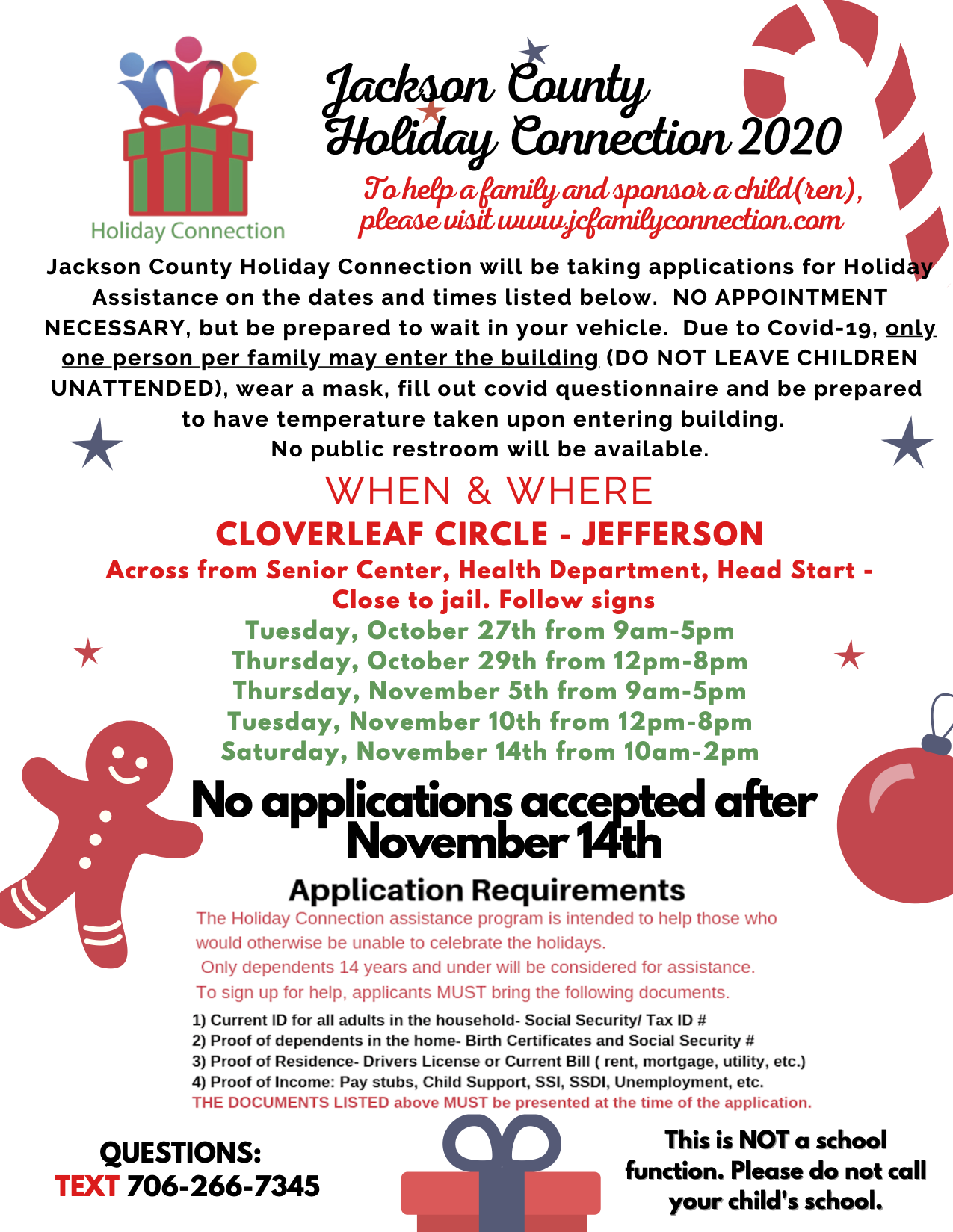 Jackson County Family Connection Holiday Assistance