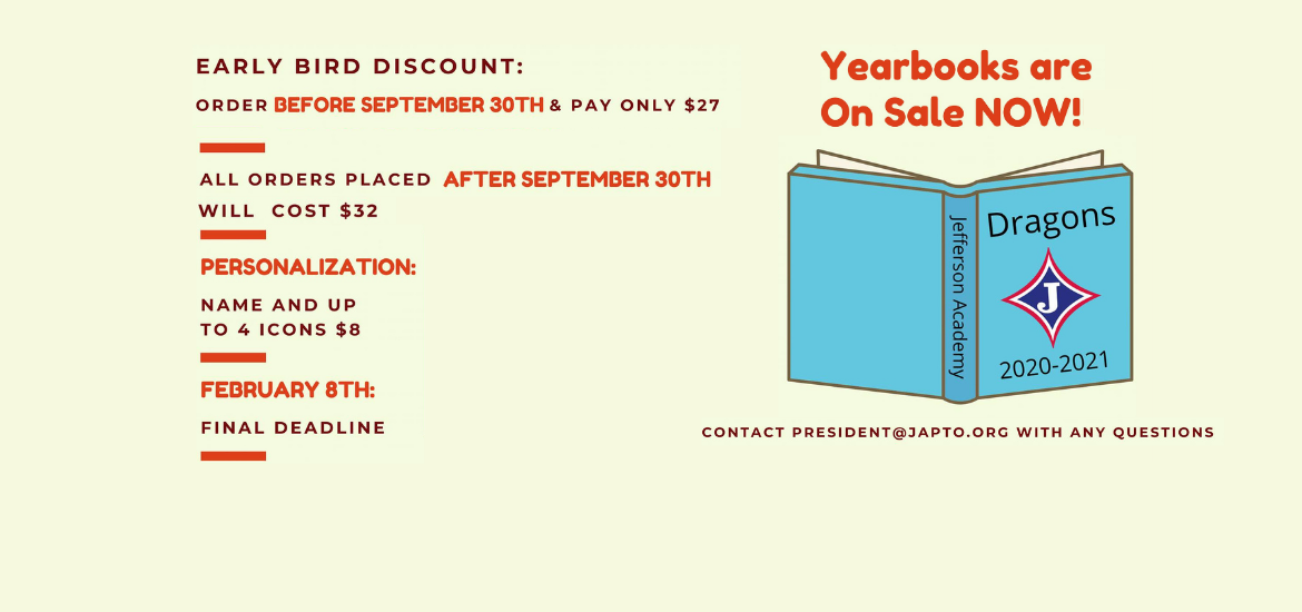 JA Yearbooks on sale now!
